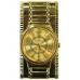 Зажигалка-часы газовая турбо с подсветкой, золотой, 73х37 мм