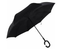 """Зонт наоборот (зонт обратного сложения) """"Черный"""""""