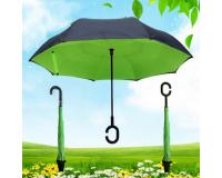 """Зонт наоборот (зонт обратного сложения) """"Салатовый"""""""