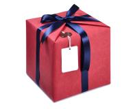 Подарочная коробка из картона 15х15см