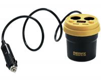 Remax CR-2XP Автомобильное зарядное устройство, 2 USB, 2 прикуривателя