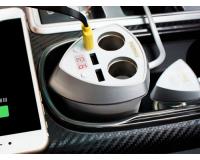 Remax CR-3XP Автомобильное зарядное устройство, 3 USB, 2 прикуривателя