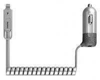 Remax RC-C103 Автомобильное зарядное устройство (microUSB - Ligthning)