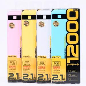 Внешний аккумулятор универсальный Remax Proda Gentleman 12000mAh 2 USB для планшетов