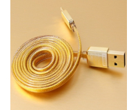Remax Safe Speed Gold microUsb 1000 mm - Кабель USB Remax microUsb 1m для Samsung Galaxy, Android