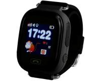 Детские часы с GPS-трекером Smart Baby Watch Q80, черные