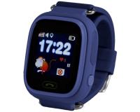 Детские часы с GPS-трекером Smart Baby Watch Q80, темно-синие