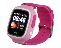 Детские часы с GPS-трекером Smart Baby Watch Q80, розовые