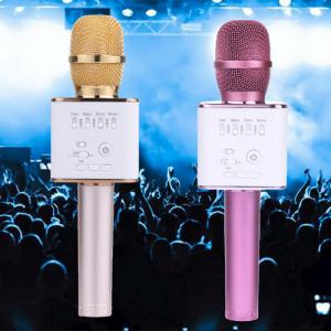 Tuxun Q9 Беспроводной караоке микрофон со встроенной колонкой, позволяет петь без дополнительного оборудования