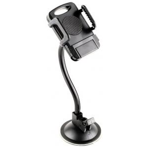 """WIIIX HT-02N держатель на стекло для телефона от 3.5"""" до 6"""" дюймов на гибкой ножке"""