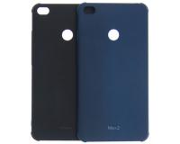 """Резиновый чехол для Xiaomi Mi Max 2 6.44"""" дюймов, черный/синий"""