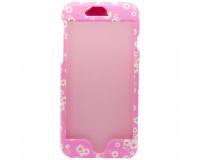 Чехол-накладка Kutis 2 in 1 для iPhone 7, розовый с цветами