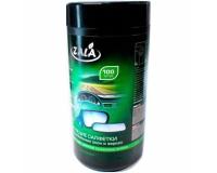 Zala ZL33200 Влажные салфетки для разных поверхностей в автомобиле туба 100шт