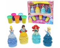 """Play-Toy Beautiful Princess Набор для лепки """"Принцессы"""" 4 в 1"""