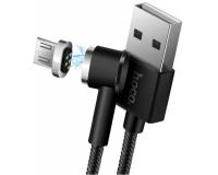Hoco U20 Магнитный кабель L-образный USB-Lightning, 1 м