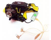 Поиск P-621-T6 Фонарь налобный с Bluetooth гарнитурой