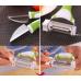 Набор ножей для чистки и фигурной нарезки овощей и фруктов Triple Slicer (Трипл Слайсер) 3 в 1