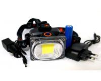 LL-6651 Фонарь налобный аккумуляторный светодиодный