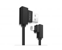 Rock Dual-end L-shape Кабель Lightning Data Cable для IPhone