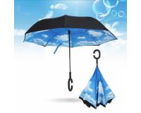 "Зонт наоборот (зонт обратного сложения) ""Облака"""