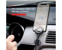 Baseus Автомобильный зарядный держатель для iPhone 3 в 1, 2.1A, 0.8 м