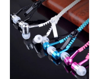 Zipper Earphones Наушники проводные светящиеся на молнии
