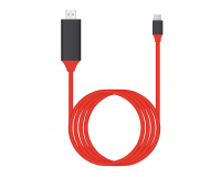 Кабель-адаптер Type-C to HDMI 4K HDTV Plug & Play, 2.0 м