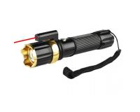 KSK K189 Фонарь ручной светодиодный с ZOOM и лазерной указкой