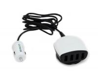 Capdase Quartet USB Car Charger Boosta Z4 автомобильная зарядка 2xUSB по 2.4A, 2xUSB по 1.0A
