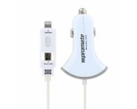Promate Booster-Duo Ультрабыстрое зарядное устройство 2 USB по 2.4A, Lightning,Micro-USB
