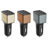Rock Motor Car Charger 3 USB 4.8A Автомобильное зарядное устройство в прикуриватель