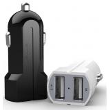 Usams 2Port автомобильное зарядное устройство в прикуриватель 2хUSB на 2,1A и 1,0A